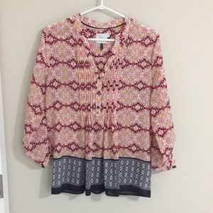 HD in Paris blouse (Anthropologie) size 8